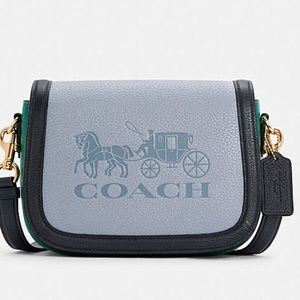 Coach Saddle In Colorblock With Horse And Carriage